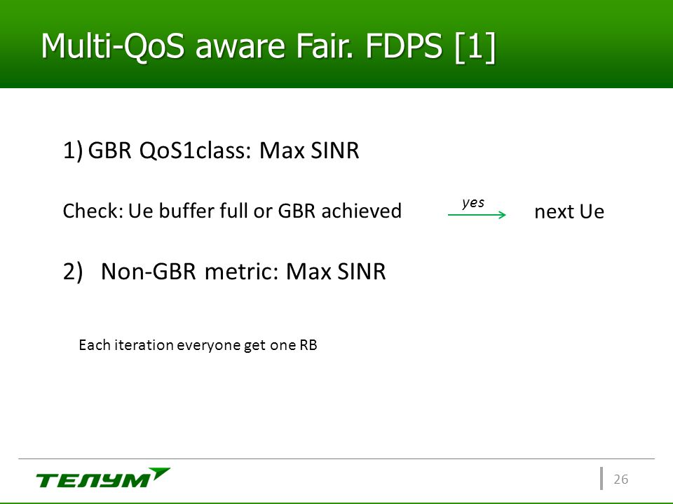 Multi-QoS aware Fair. FDPS [1]